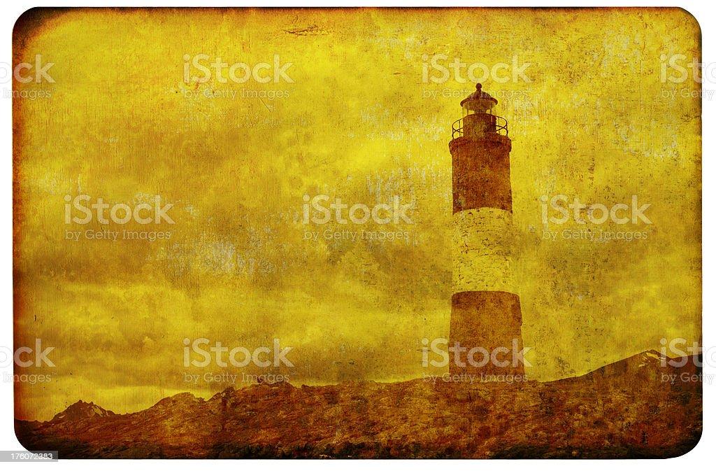 Creepy Lighthouse Background stock photo