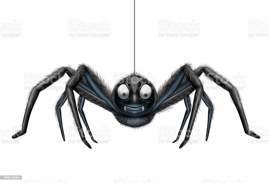 Creepy Spider stock photo