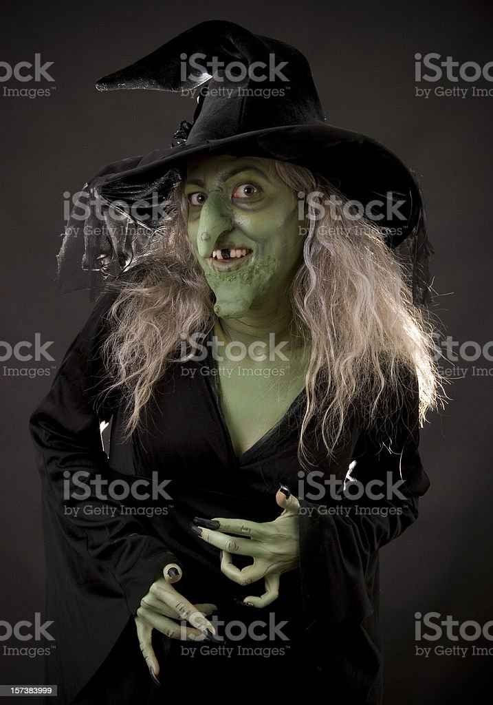Creepy Witch stock photo