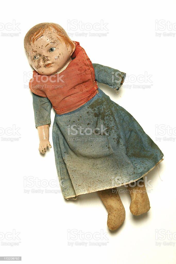 Creepy,Grunge Distressed Doll royalty-free stock photo