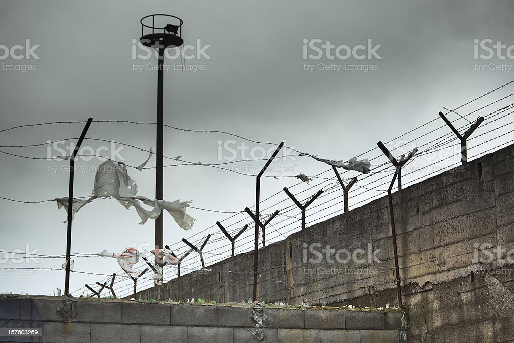 Creepy-looking and dangerous prison  stock photo