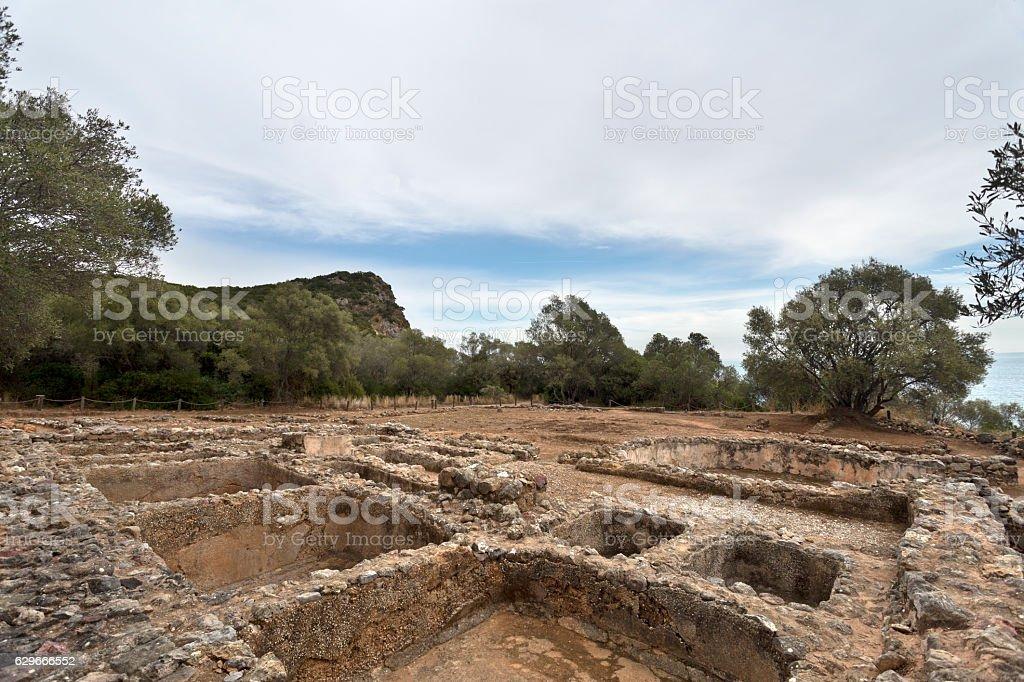 Creiro Roman Ruins stock photo