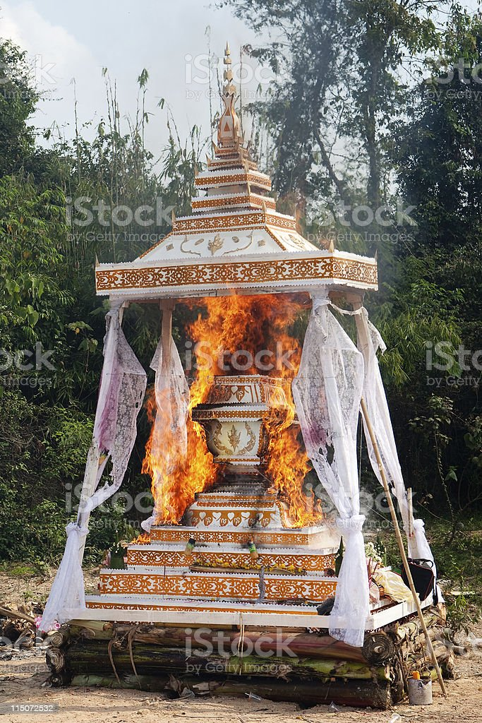 Cremation Buddhist royalty-free stock photo