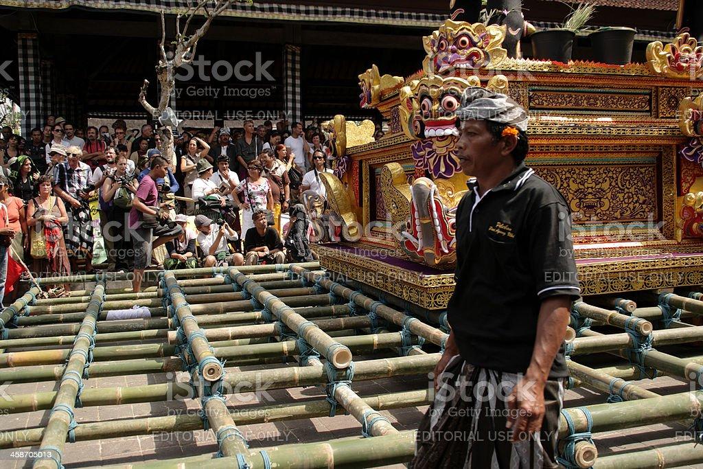 Cremation ceremony in Ubud, Bali stock photo