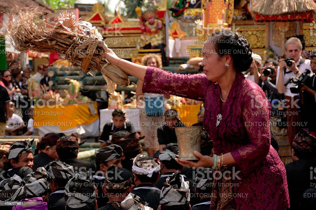 Cremation ceremony in Ubud, Bali royalty-free stock photo