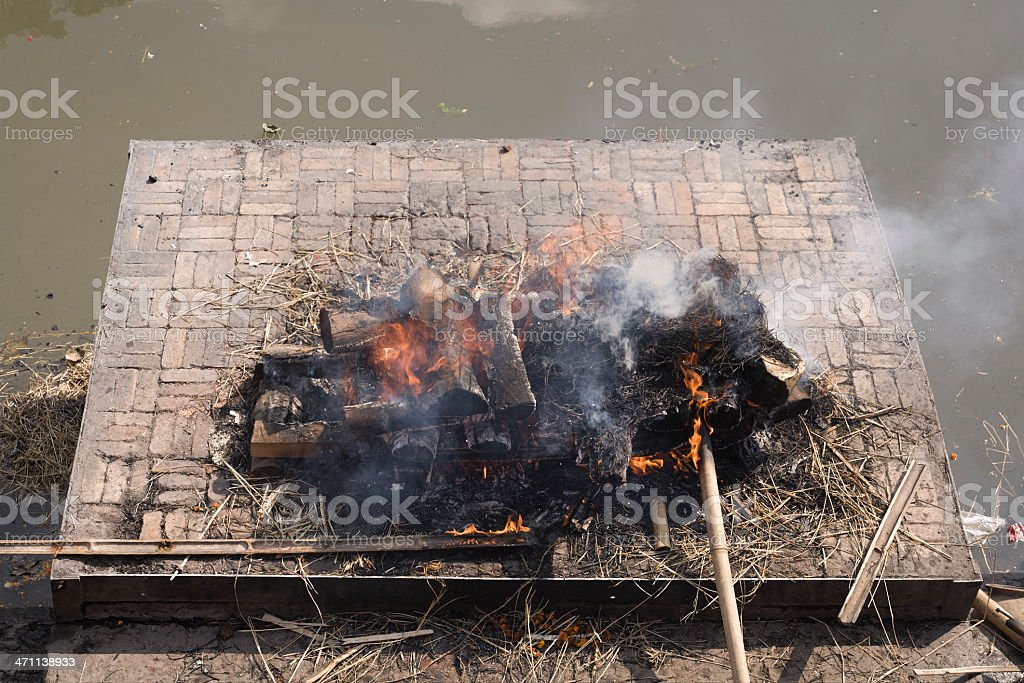 Cremation ghat royalty-free stock photo