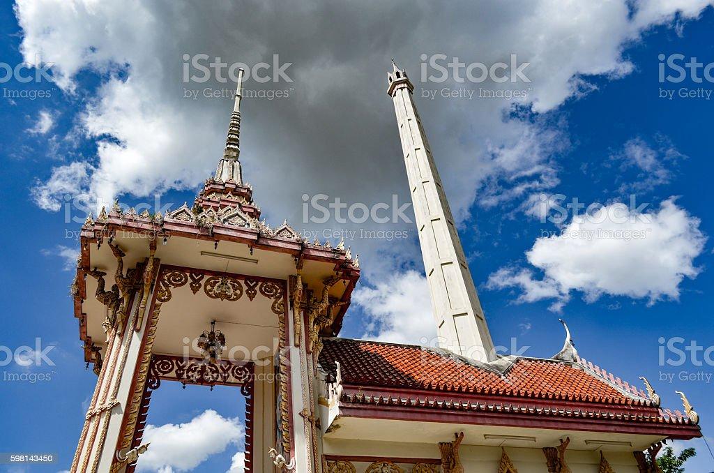 Crematorium Thailand stock photo