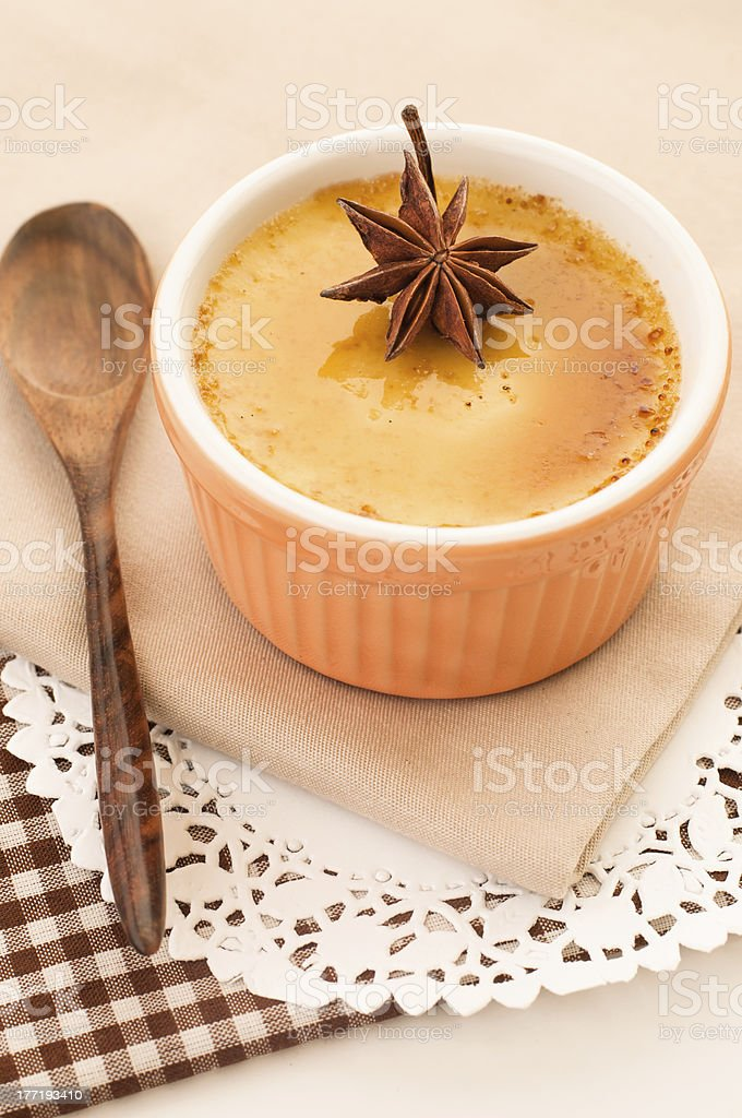 Creme brulee desserts royalty-free stock photo
