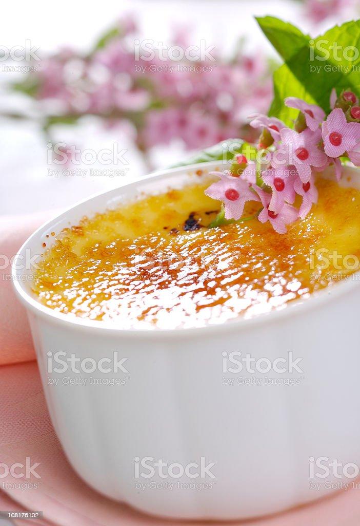 Creme brulee royalty-free stock photo