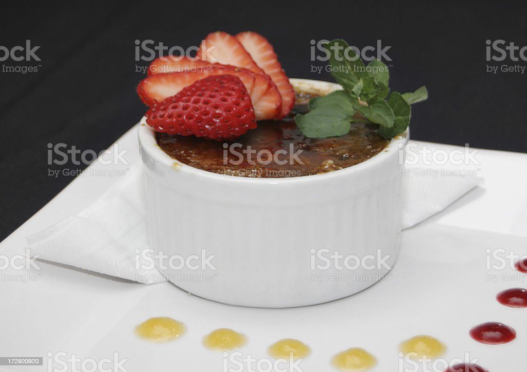 Creme Brulee royalty-free stock photo
