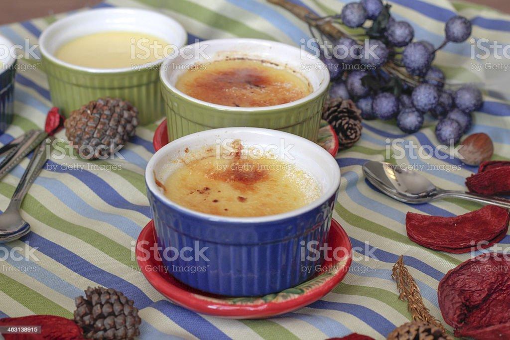 Creme caramel , Custard pudding stock photo