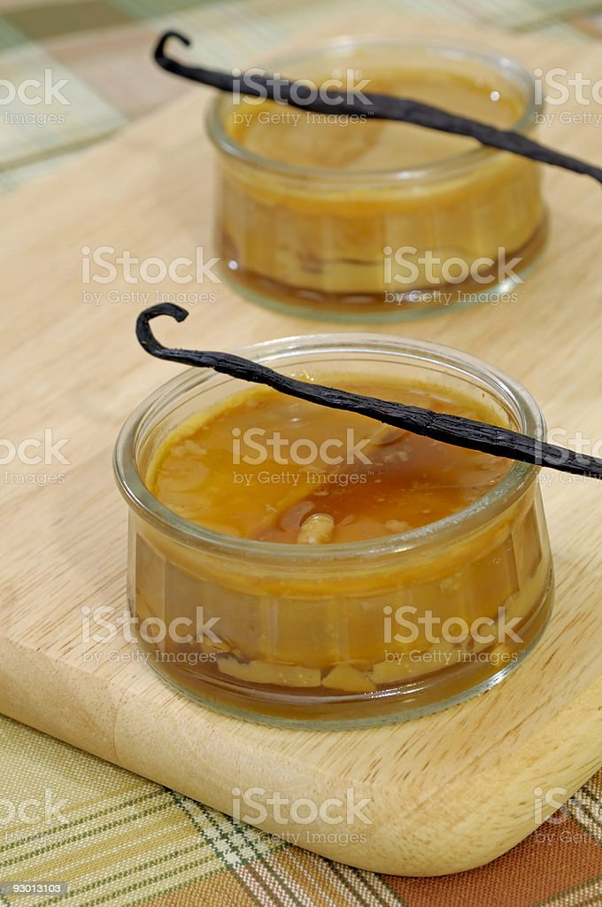 Creme caramel dessert stock photo