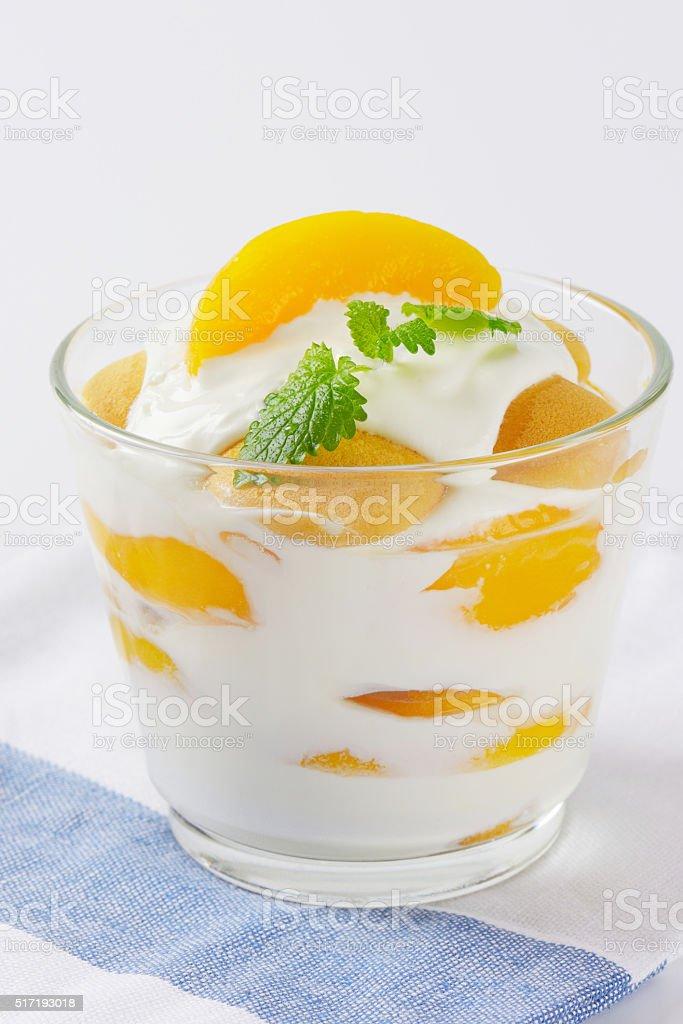 creme fraiche dessert stock photo