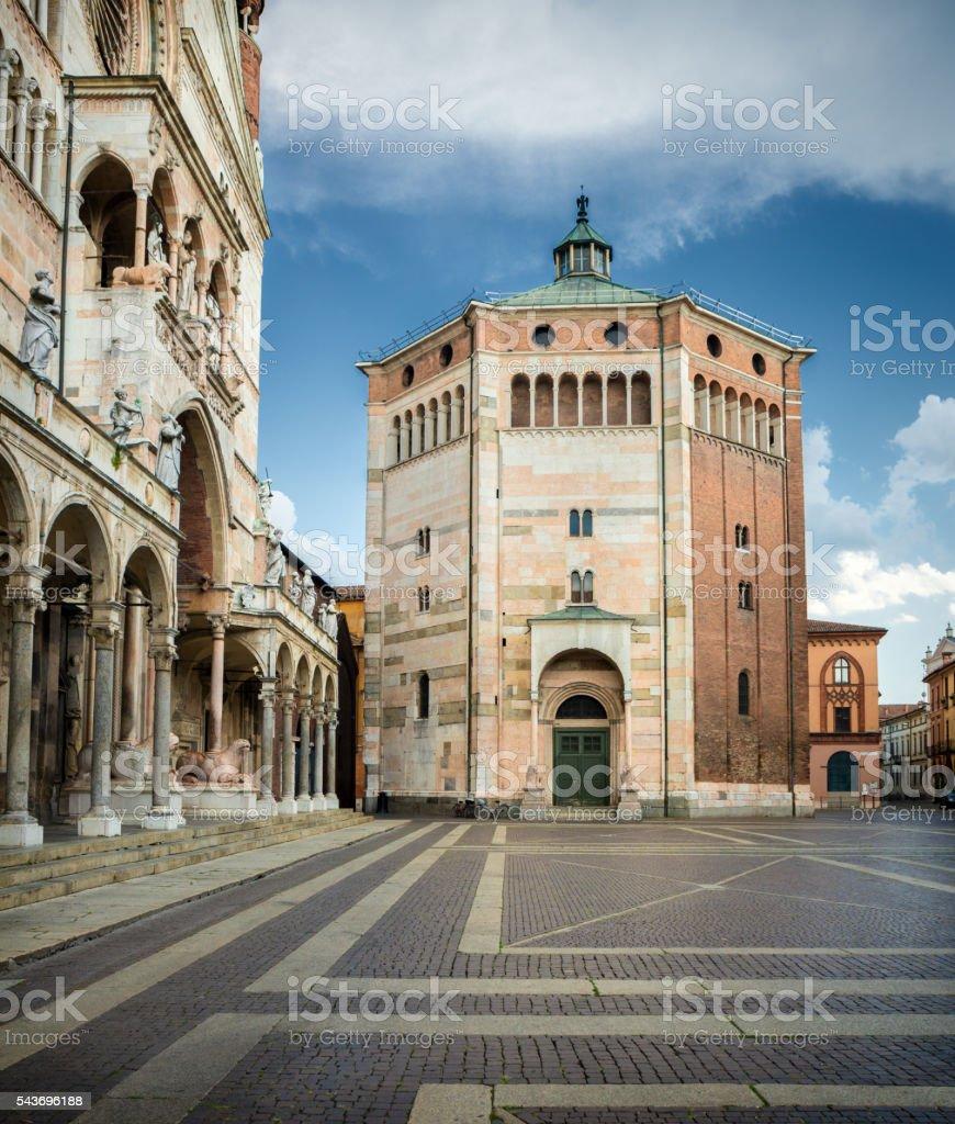 Cremona Baptistery, Lombardy Italy stock photo