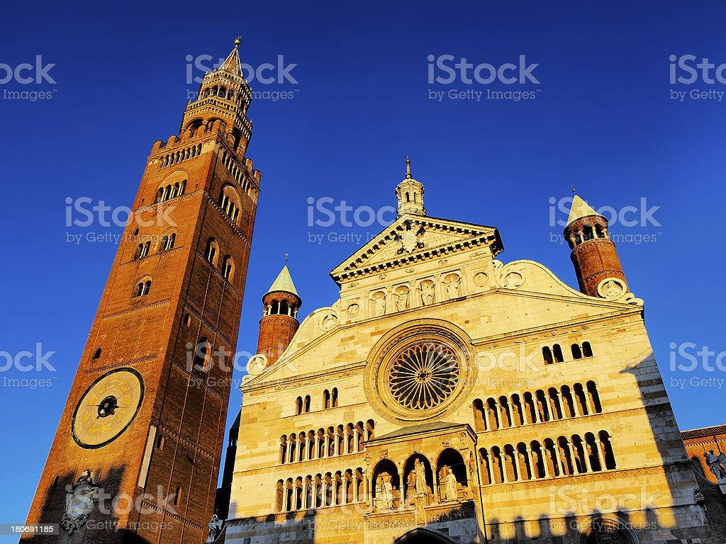 Cremona Cathedral, Lombardy, Italy royalty-free stock photo