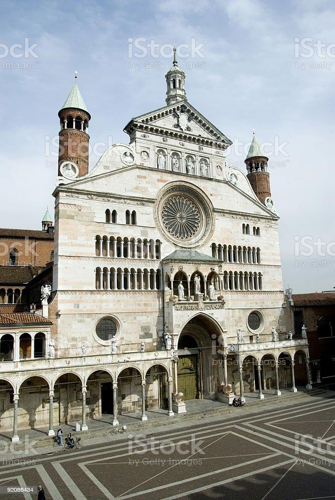 Cremona Catherdral stock photo