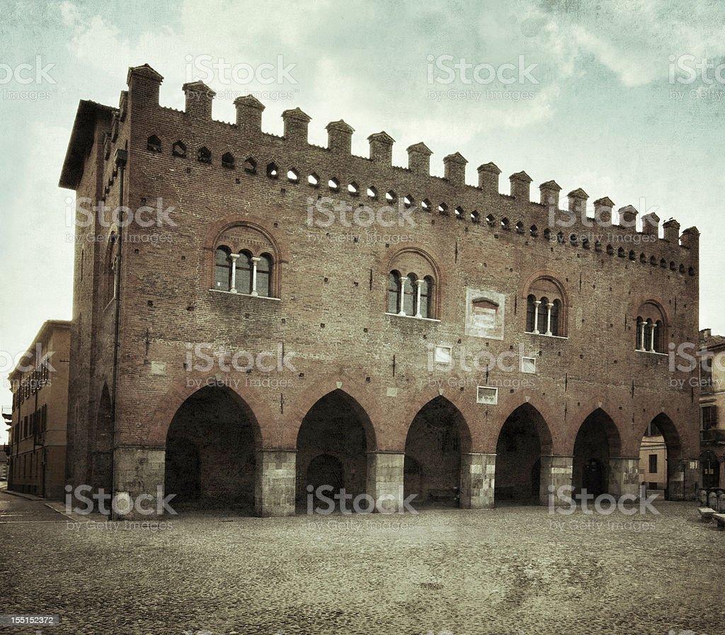 Cremona, Italy - Cittanova Palace stock photo