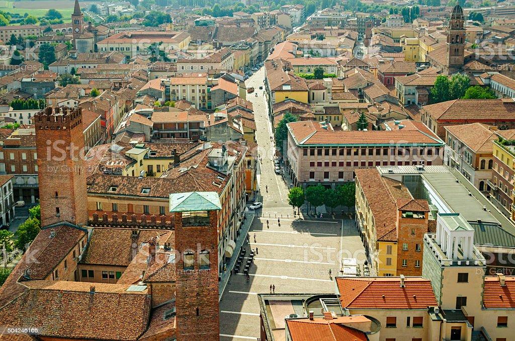 Cremona panorama (Italy) stock photo