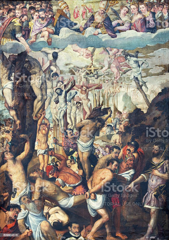 Cremona - The paint of early christian martyrs stock photo