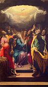 Cremona - The painting of Pentecost in The Cathedral