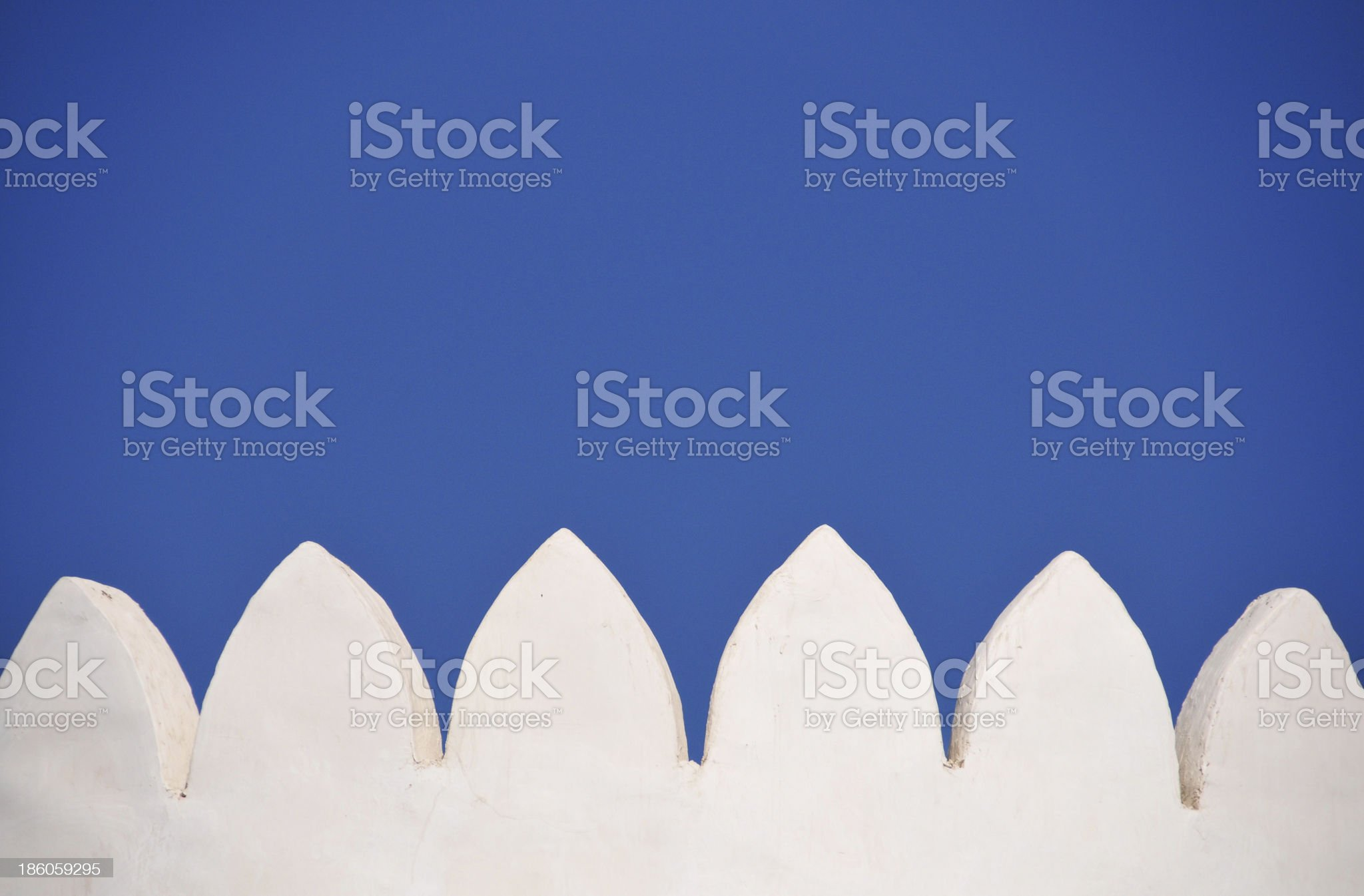 crenulation on a typical Arabian fort royalty-free stock photo