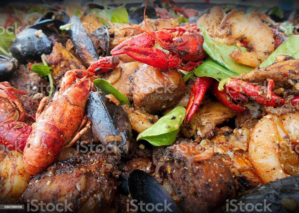 Creole saute stock photo