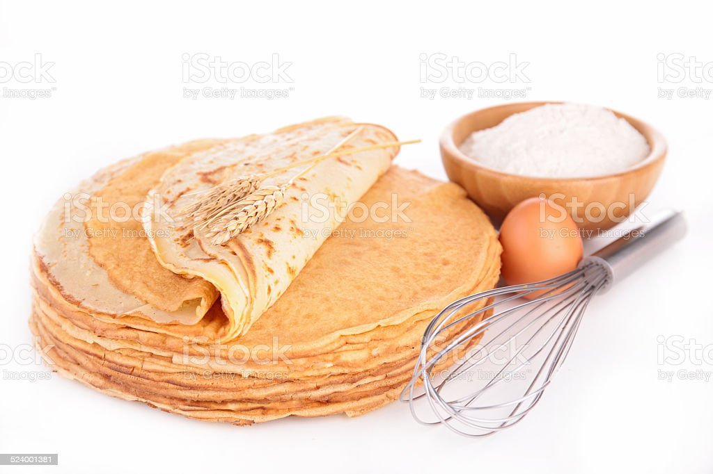 crepe isolated stock photo