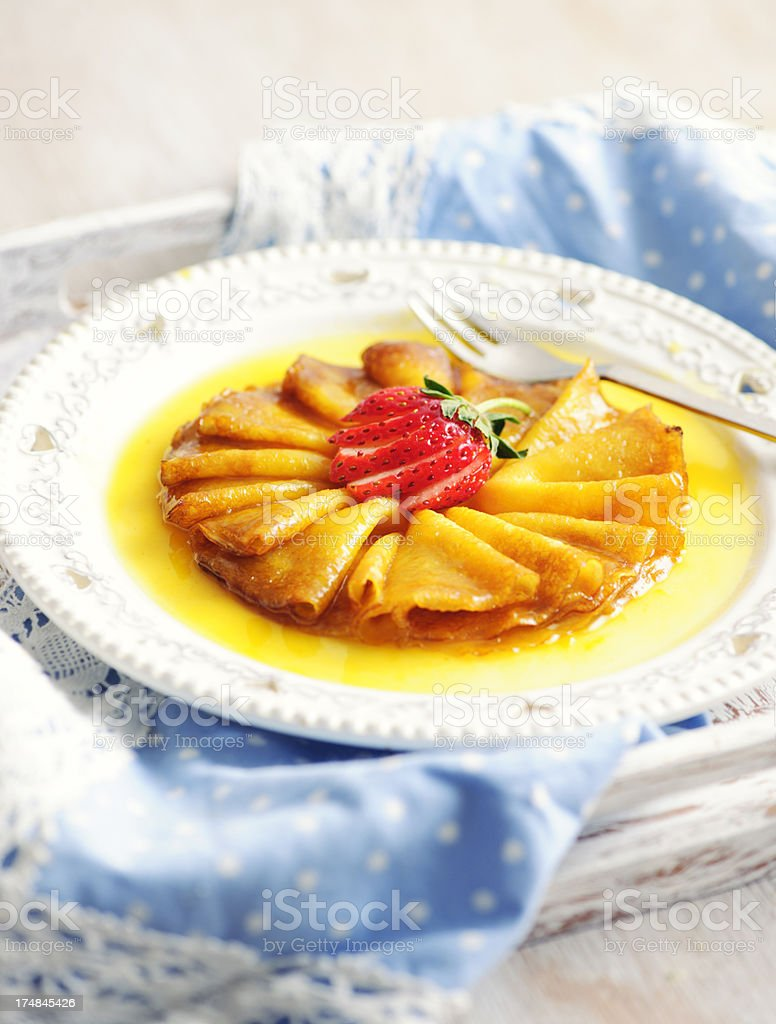 Crepe Suzette royalty-free stock photo