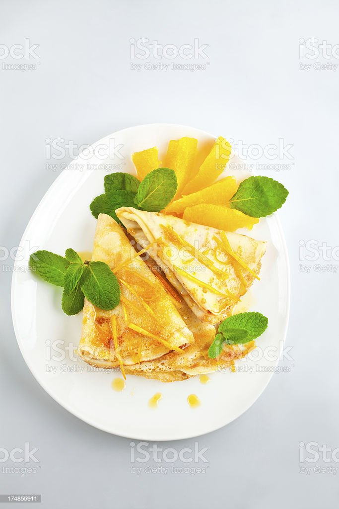 Crepes Suzette royalty-free stock photo