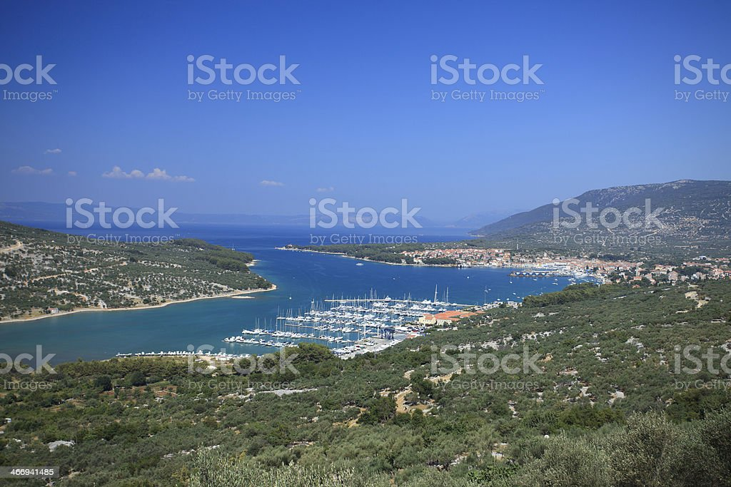 Cres panorama royalty-free stock photo