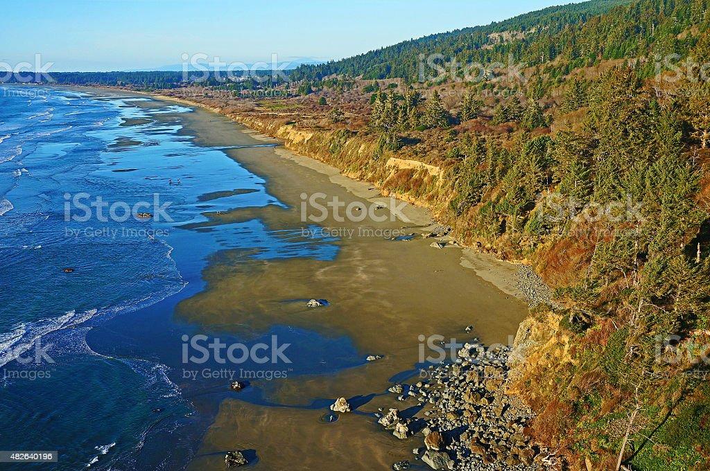 Crescent Beach Overlook stock photo