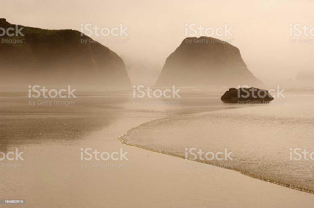 Crescent Beach, Wave in Foreground stock photo