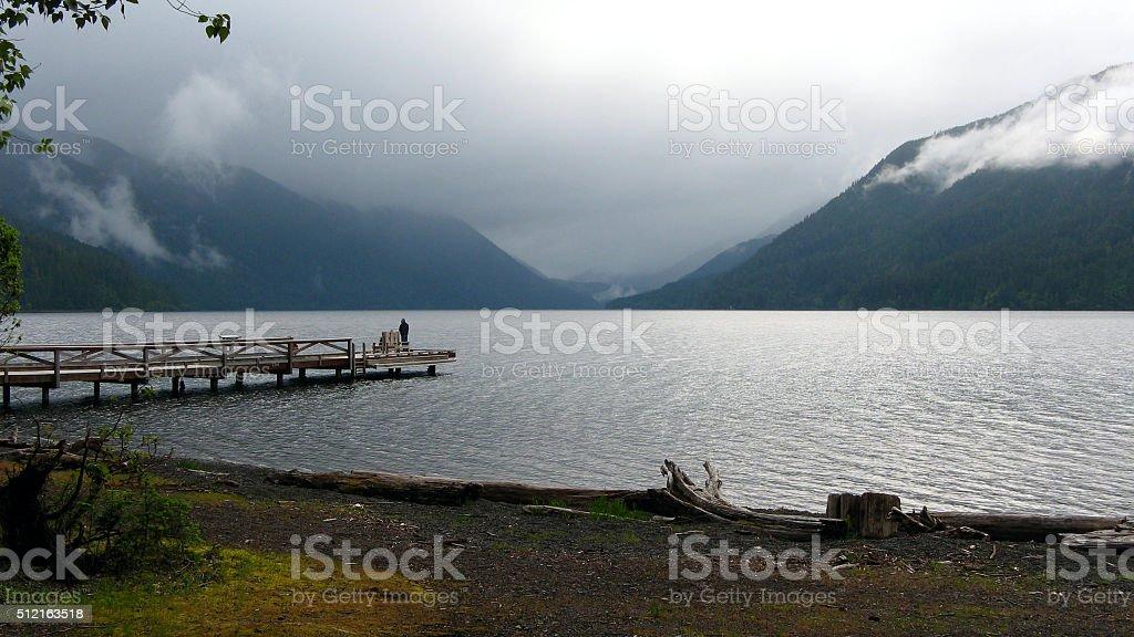 Crescent Lake royalty-free stock photo
