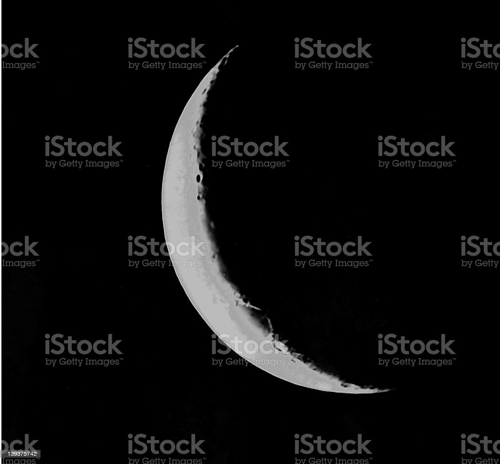 crescent moon 2 royalty-free stock photo