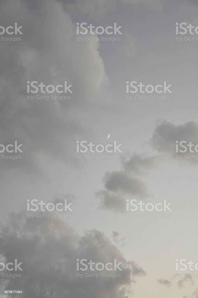 Crescent Moon stock photo