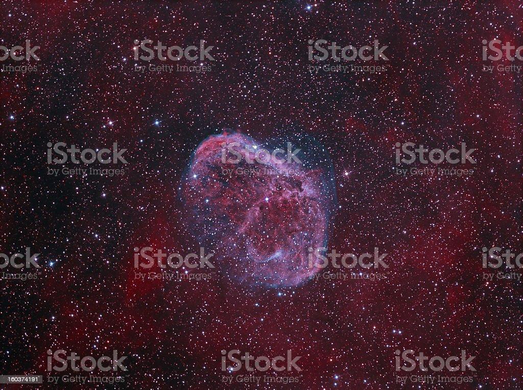 NGC6888 Crescent Nebula royalty-free stock photo
