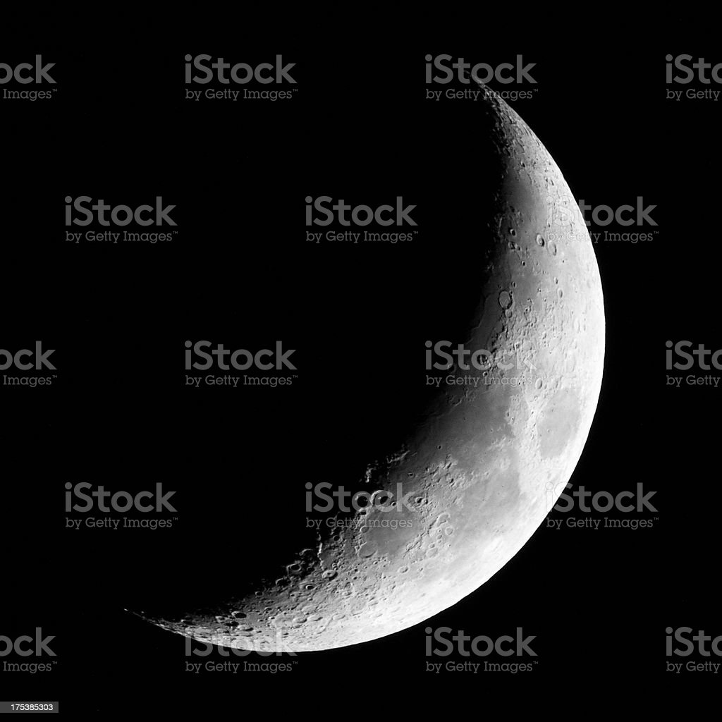 Crescent new moon (photo) stock photo