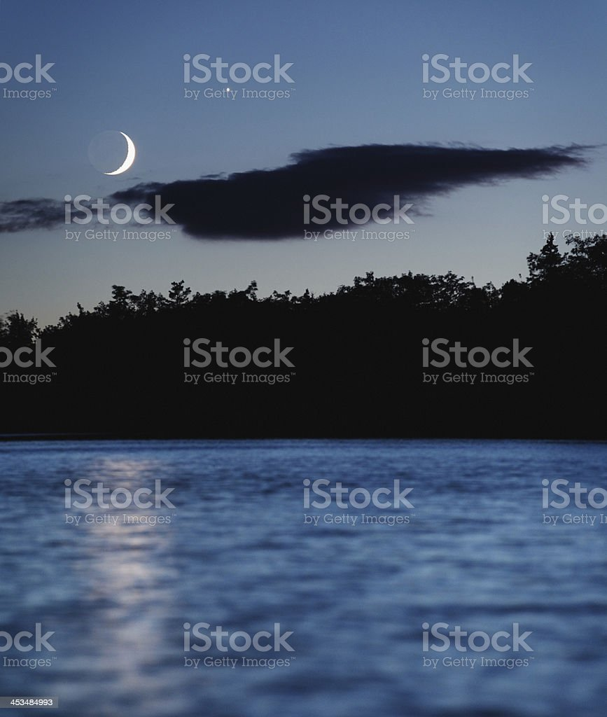 Crescent Reflection stock photo