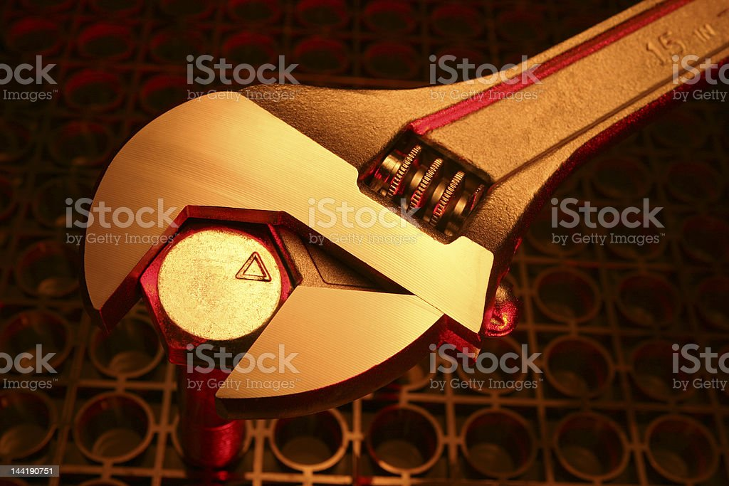 Crescent Wrench stock photo