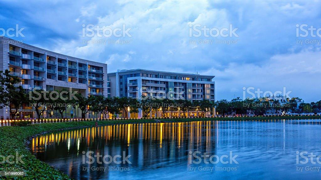 Cresent Lake stock photo