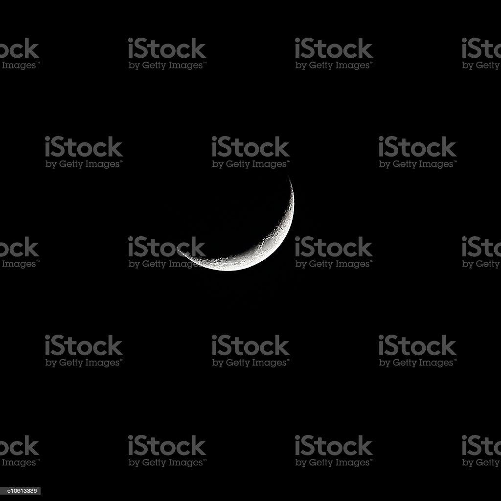 Cresent moon February stock photo