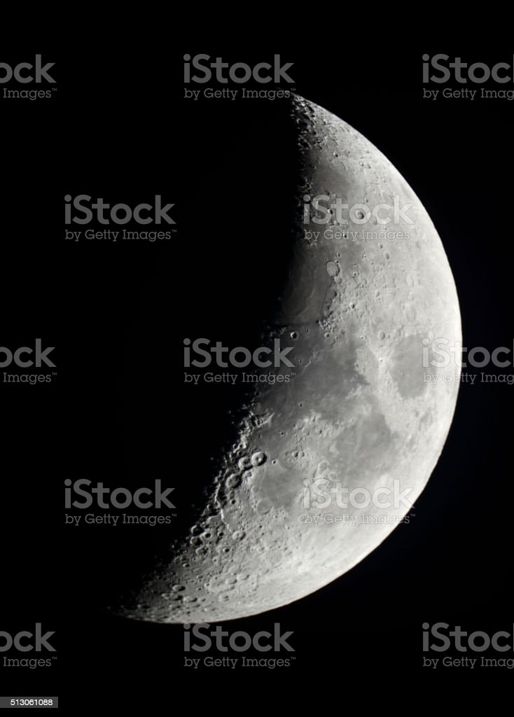 Cresent moon stock photo