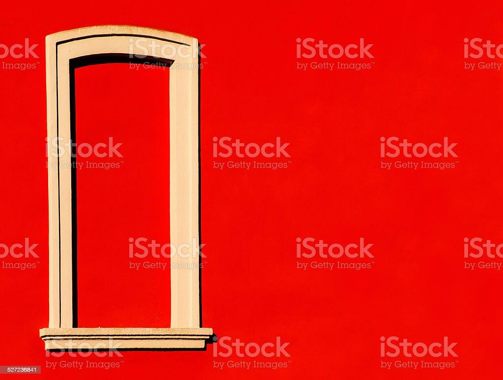 Crespi d'Adda, finestra stock photo
