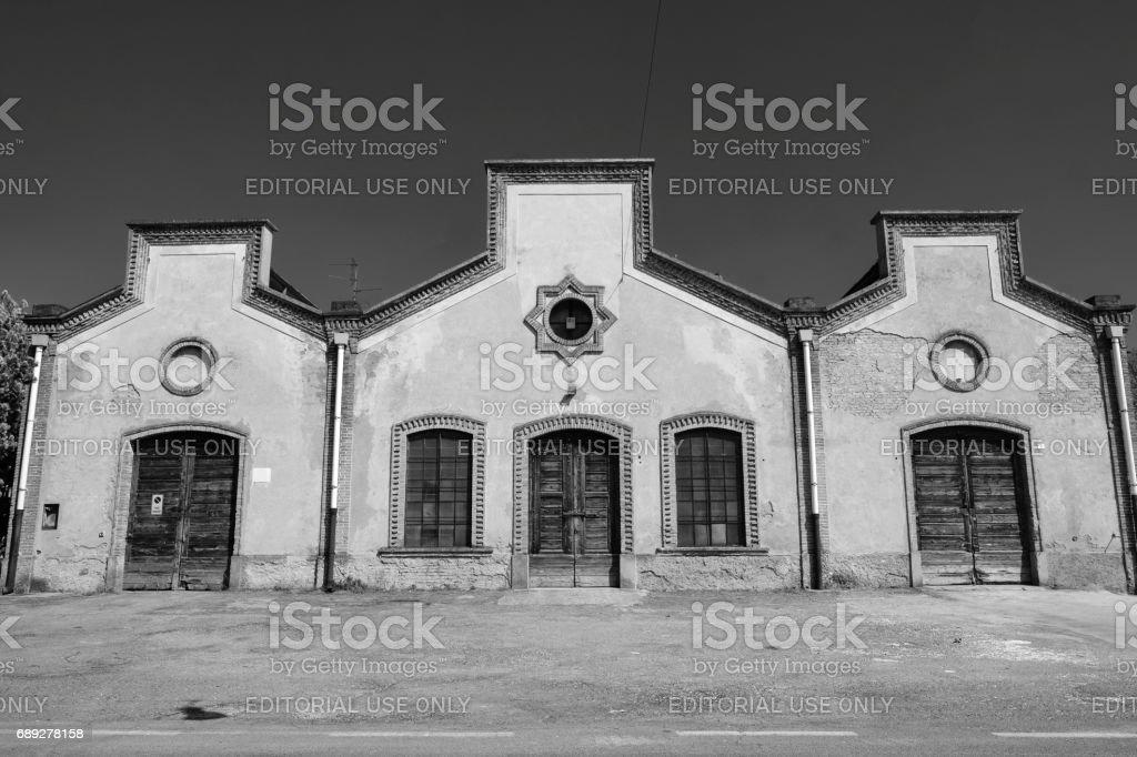 Crespi d'Adda (Italy), historic industrial village stock photo