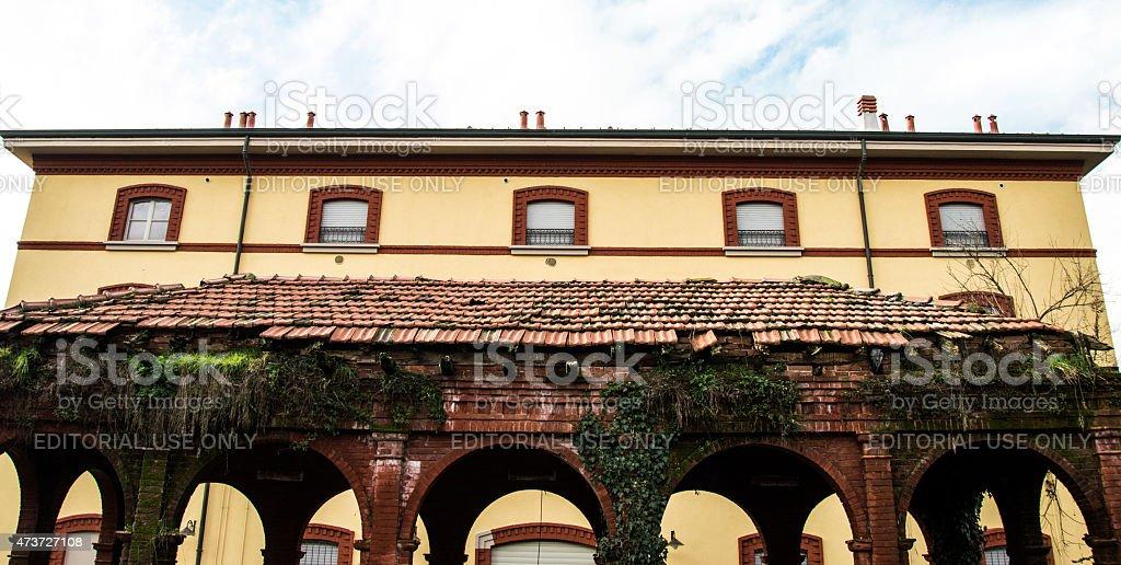 Crespi d'Adda, Italy stock photo