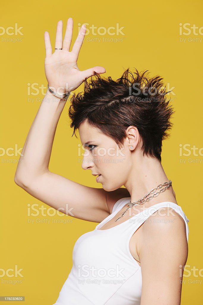 Crest hair royalty-free stock photo