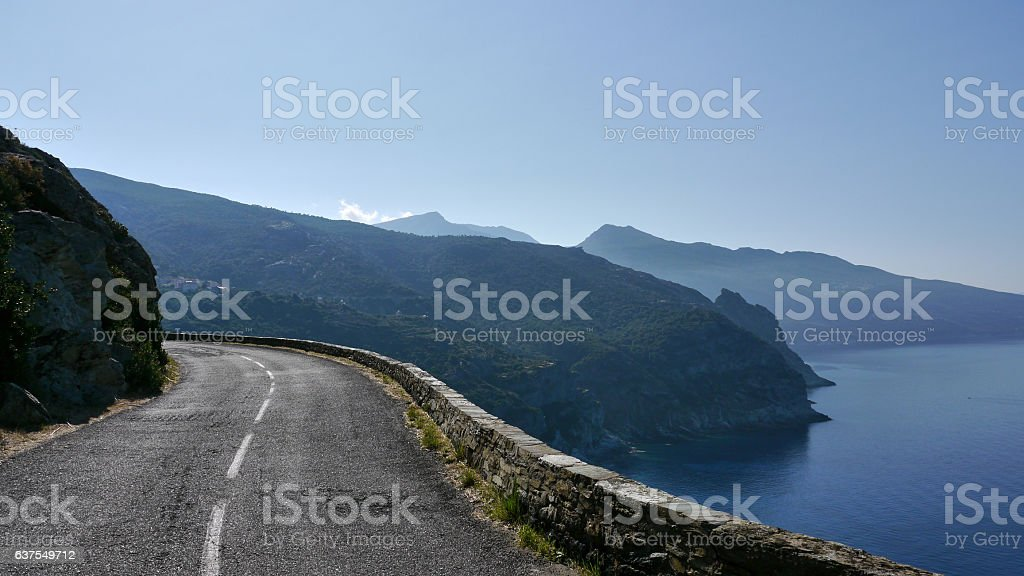 Crest road - France - Corse stock photo
