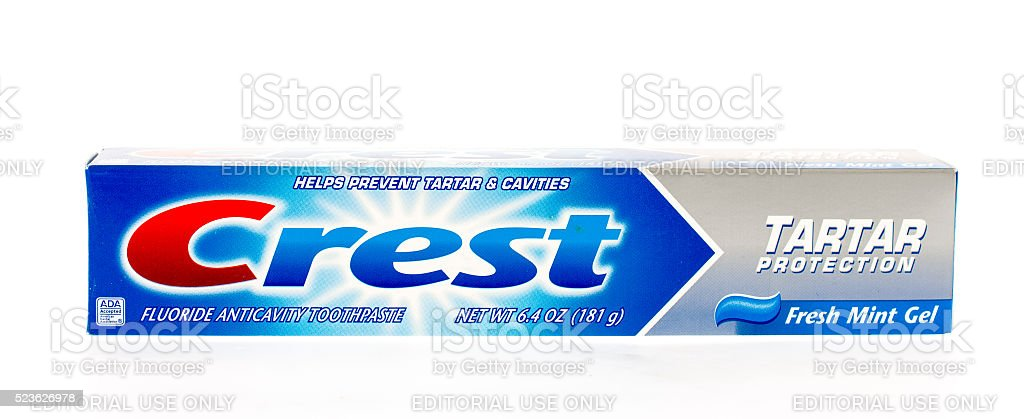 Crest Tooth Paste stock photo