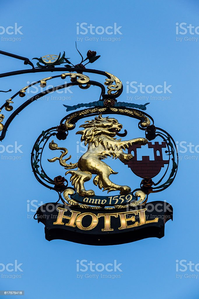 Crest with lion shape stock photo