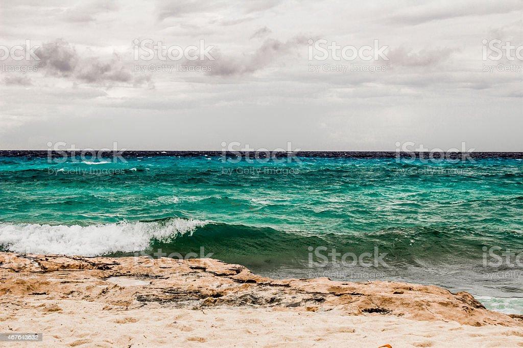 Cresting Rock stock photo